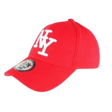 Casquette NY Rouge et Blanche Fashion Baseball Gwyz CASQUETTES Hip Hop Honour