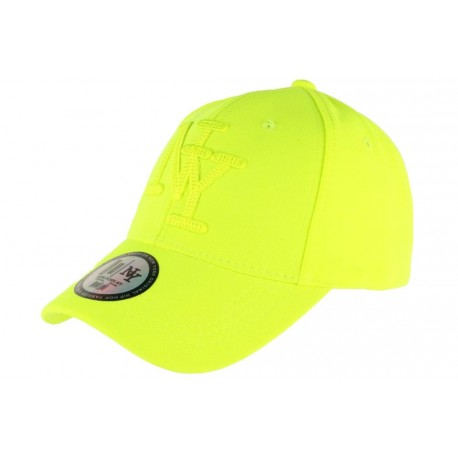 Casquette NY Jaune Fluo Flashy Baseball Gwyz CASQUETTES Hip Hop Honour