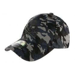 Casquette Baseball Militaire Noire et Bleue Tete de Mort Kaft CASQUETTES Hip Hop Honour