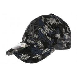 Casquette NY Militaire Noire et Bleue Baseball Tendance Kaft CASQUETTES Hip Hop Honour