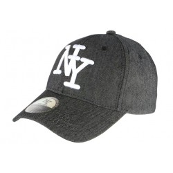 Casquette NY Denim Grise Jeans classe Baseball Boston CASQUETTES Hip Hop Honour