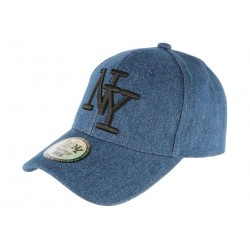Casquette NY Bleue en Denim Jean Tendance Baseball Boston CASQUETTES Hip Hop Honour