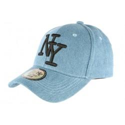 Casquette NY Bleu Ciel Denim Jeans Tendance Baseball Boston