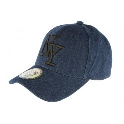 Casquette NY Bleu Marine Denim Jeans Tendance Baseball Boston CASQUETTES Hip Hop Honour