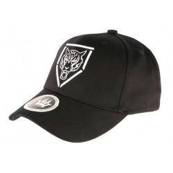 Casquette Baseball Noire Tigre Blanc Streetwear en coton CASQUETTES Hip Hop Honour
