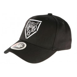 Casquette Baseball Noire Tigre Blanc Streetwear en coton