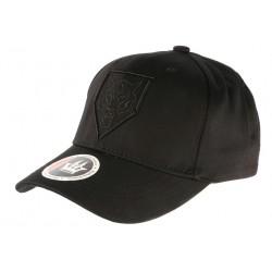 Casquette Baseball Noir Tete de Tigre Streetwear Coton Premium
