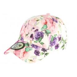 Casquette NY Rose et Violette a Fleurs Fashion Baseball Bora