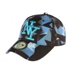 Casquette Baseball Bleue et Noire NY Tendance Axy CASQUETTES Hip Hop Honour