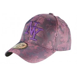 Casquette Baseball Violette Tendance et Classe Luxe NY Dily