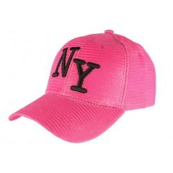 Casquette Trucker Rose NY Noir Look Ete Fun Baseball Liak CASQUETTES Hip Hop Honour