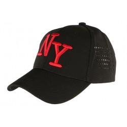 Casquette NY Noire et Rouge Design Baseball Tendance NY Surray CASQUETTES Hip Hop Honour