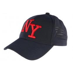 Casquette NY Bleu Marine et Rouge Design Baseball Tendance NY Surray CASQUETTES Hip Hop Honour