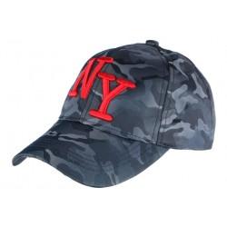 Casquette NY Militaire Bleu Marine et Rouge Graphisme Baseball Armee Koft CASQUETTES Hip Hop Honour