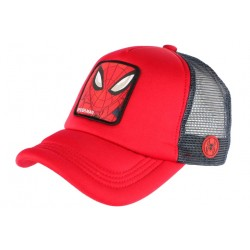 Casquette Spider Man Rouge Marvel Official Trucker Capslab CASQUETTES CAPSLAB