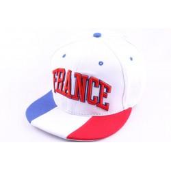 Casquette Snapback Blanche France Bleu Blanc Rouge
