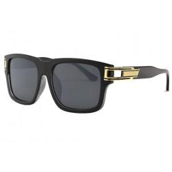 Grandes lunettes soleil Fashion Noires et Dorees Cluk LUNETTES SOLEIL Eye Wear