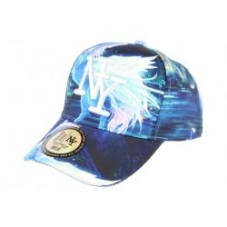 Casquette NY Enfant Licorne Bleue et Blanche Fantaisie Baseball Casquette Enfant Hip Hop Honour