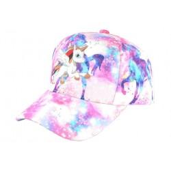 Casquette Enfant Licorne Blanche et Rose Fashion Baseball Kelfy Casquette Enfant Hip Hop Honour