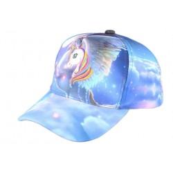 Casquette Baseball Enfant Licorne Bleue Fashion Lolie Casquette Enfant Hip Hop Honour