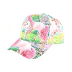 Casquette Baseball Enfant Licorne Rose et Verte Fashion Lolie Casquette Enfant Hip Hop Honour