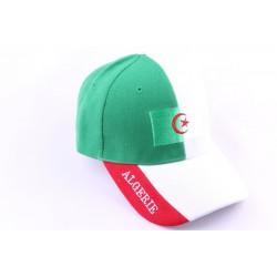 Casquette Snapback Algérie verte et blanche