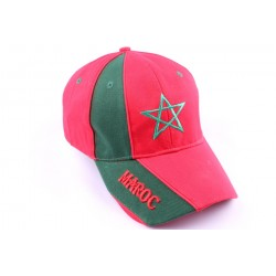 Casquette Snapback Maroc Rouge et Verte