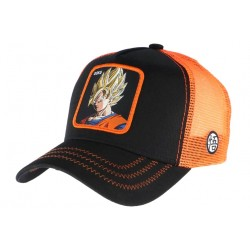 Casquette Goku Dragon Ball Z Collabs orange et noire CASQUETTES CAPSLAB