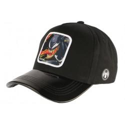 Casquette Venom Noire Visiere Cuir Fashion Baseball Marvel Capslab CASQUETTES CAPSLAB