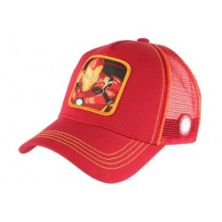 Casquette Iron Man Rouge Super Heros Marvel Baseball Capslab CASQUETTES CAPSLAB