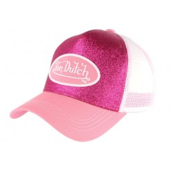 Casquette Von Dutch Rose et Blanche Flakes Baseball Fashion CASQUETTES VON DUTCH