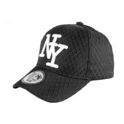 Casquette Enfant Noire NY Blanc Tendance Acy Baseball de 7 à 12 ans Casquette Enfant Hip Hop Honour