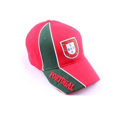Casquette Strapback Portugal verte et rouge