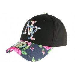 Casquette NY Bleue Fleurs Roses Gili Baseball Fashion Tropic CASQUETTES Hip Hop Honour