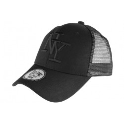 Casquette filet NY Noir Fashion Trucker Gybz CASQUETTES Hip Hop Honour
