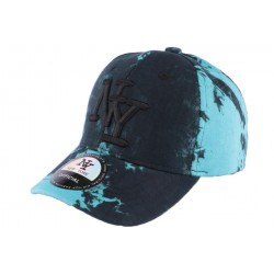 Casquette Baseball Bleue et Noire Fashion NY Tie Walk CASQUETTES Hip Hop Honour