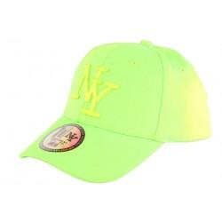 Casquette Enfant Verte Fluo Baseball Fashion Styz de 7 à 11 ans Casquette Enfant Hip Hop Honour