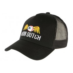 Casquette Von Dutch Noire Eye Ball Black Baseball Trucker Fashion CASQUETTES VON DUTCH