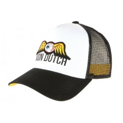 Casquette Von Dutch Blanche et Noire Eye Ball Baseball Trucker Fashion CASQUETTES VON DUTCH