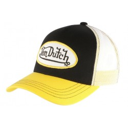 Casquette Von Dutch Noire Visiere Jaune Colors Trucker Baseball Fashion CASQUETTES VON DUTCH