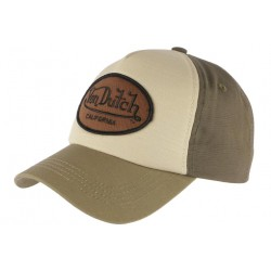 Casquette Von Dutch Verte et Marron Baseball Custom Jack CASQUETTES VON DUTCH