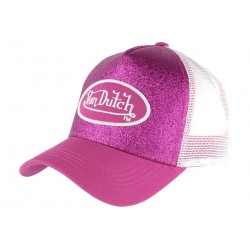 Casquette Von Dutch Violette et Blanche Baseball Fashion Flakes CASQUETTES VON DUTCH