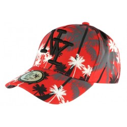 Casquette Baseball Orange et Noire Cocotiers Fashion NY Exotic CASQUETTES Hip Hop Honour