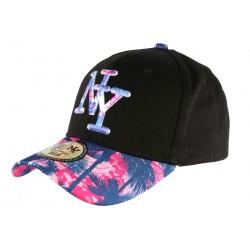 Casquette Enfant Rose et Bleue Fashion Hawai Baseball NY de 7 à 12 ans Casquette Enfant Hip Hop Honour
