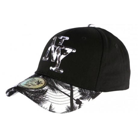 Casquette NY Blanche et Noire Fashion Baseball Hawai CASQUETTES Hip Hop Honour
