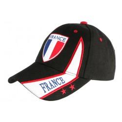 Casquette France Noire Drapeau blanc rouge Baseball tricolore CASQUETTES PAYS