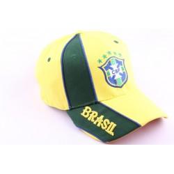 Casquette Strapback Equipe Football Brésil Jaune et Verte CASQUETTES PAYS