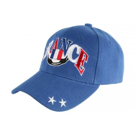 Casquette France Bleue Drapeau Bleu Blanc Rouge Baseball Foot CASQUETTES PAYS