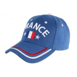 Casquette France Etoiles Bleu Blanc Rouge Baseball Foot tricolore CASQUETTES PAYS