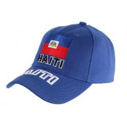 Casquette Haiti Bleu et Rouge Baseball drapeau Haitien CASQUETTES PAYS